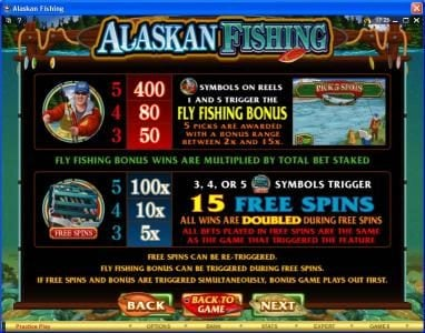 Party Casino featuring the Video Slots Alaskan Fishing with a maximum payout of $607,500