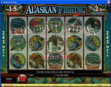 Casino 440 featuring the Video Slots Alaskan Fishing with a maximum payout of $607,500