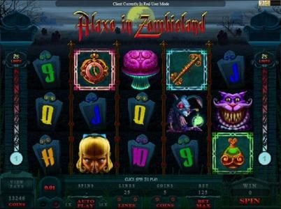 Vegas Paradice featuring the Video Slots Alaxe in Zombieland with a maximum payout of $10,000