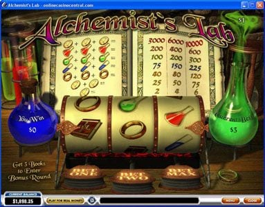Play slots at Casino.DK: Casino.DK featuring the video-Slots Alchemist's Lab with a maximum payout of $30,000