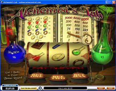 Omni featuring the video-Slots Alchemist's Lab with a maximum payout of $30,000