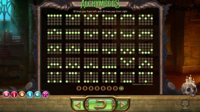 Leo Vegas featuring the Video Slots Alchymedes with a maximum payout of $600,000