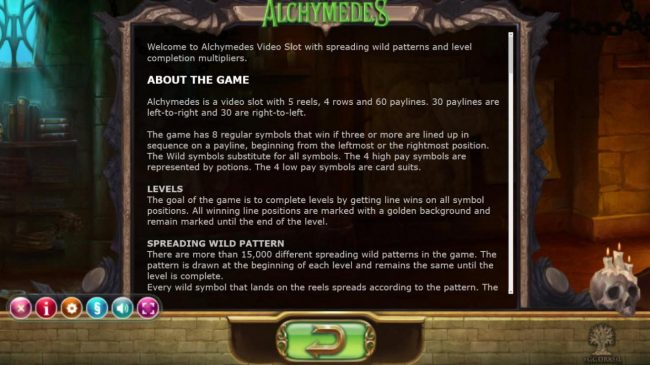 Play slots at Intercasino: Intercasino featuring the Video Slots Alchymedes with a maximum payout of $600,000