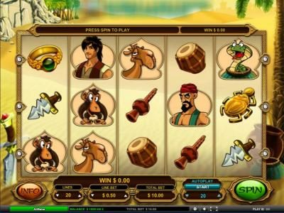 Amsterdam Casino featuring the Video Slots Ali Baba with a maximum payout of $25,000