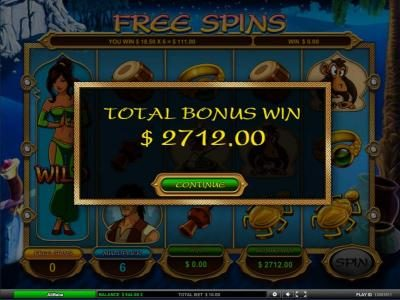total free spins bonus win 2712 coin jackpot