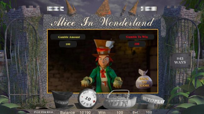 Play slots at VipSpel: VipSpel featuring the Video Slots Alice in Wonderland with a maximum payout of $50,000