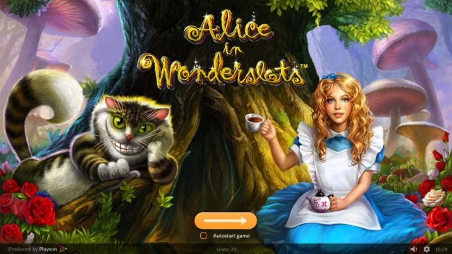 Bonanza featuring the Video Slots Alice in Wonderslots with a maximum payout of $50,000