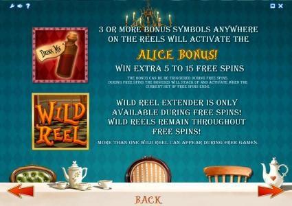 Alice Adventure :: bonus and wild symbols game rules
