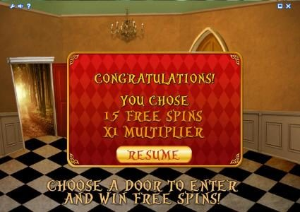 Alice Adventure :: 15 free spins with a x1 multiplier