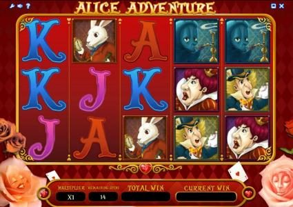 Llama Casino featuring the Video Slots Alice Adventure with a maximum payout of $1,000