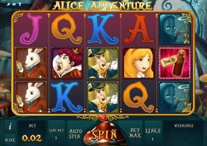 Play slots at Jaak Casino: Jaak Casino featuring the Video Slots Alice Adventure with a maximum payout of $1,000