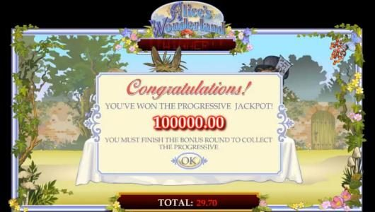 Wicked Jackpots featuring the Video Slots Alice's Wonderland with a maximum payout of $37,500
