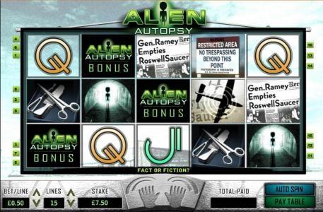 Alien Autopsy :: bonus feature triggered