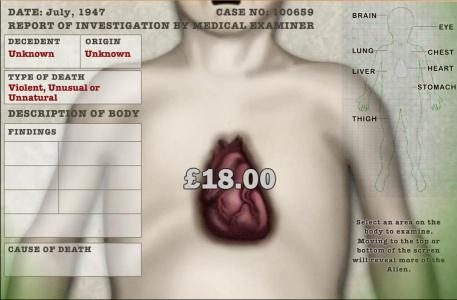 an $18 prize is awarded for dissecting the heart of the alien