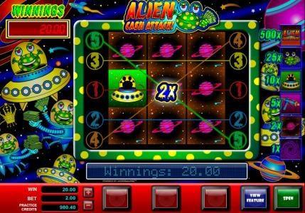 Alien Cash Attack :: Freature Spins