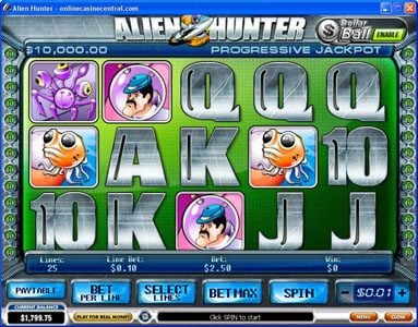 Play slots at Casino Plex: Casino Plex featuring the Video Slots Alien Hunter with a maximum payout of Jackpot