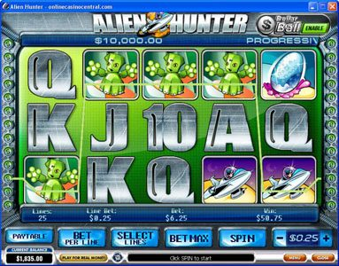 Casino King featuring the Video Slots Alien Hunter with a maximum payout of Jackpot