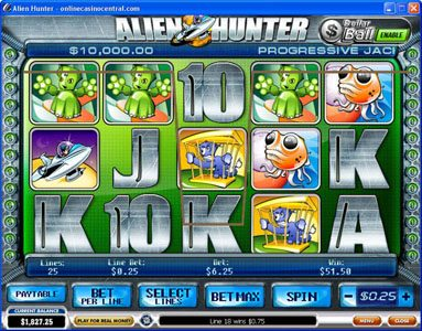 Casino.com featuring the Video Slots Alien Hunter with a maximum payout of Jackpot