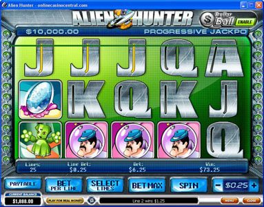 My Win 24 featuring the Video Slots Alien Hunter with a maximum payout of Jackpot
