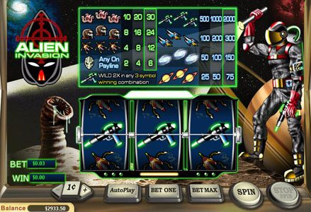 Intertops Classic featuring the Video Slots Alien Invasion with a maximum payout of $20,000