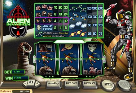 Play slots at Red Stag: Red Stag featuring the Video Slots Alien Invasion with a maximum payout of $20,000