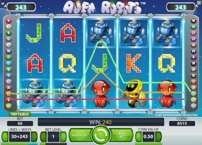 Hello featuring the Video Slots Alien Robots with a maximum payout of $25,000