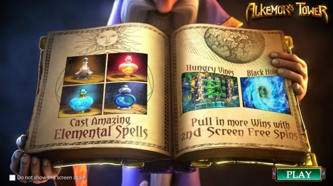 you can cast amazing Elemental Spells and pull in more wins with 2nd screen free spins