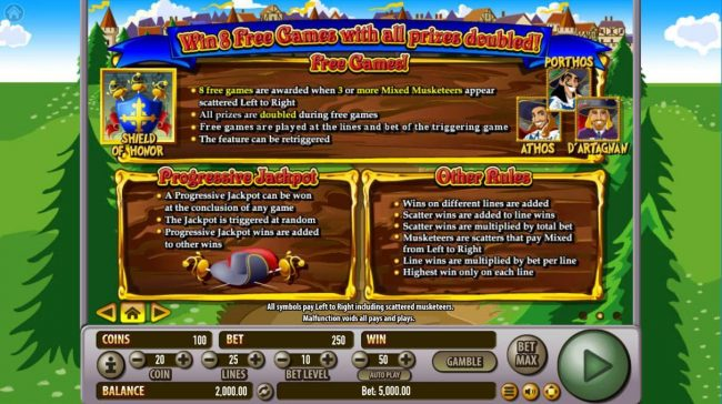 Montecryptos featuring the Video Slots All For One! with a maximum payout of $2,500,000