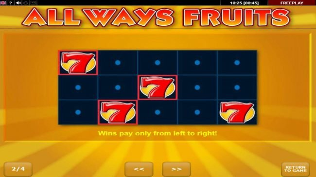 Play slots at Casinia: Casinia featuring the Video Slots All Ways Fruits with a maximum payout of $100,000