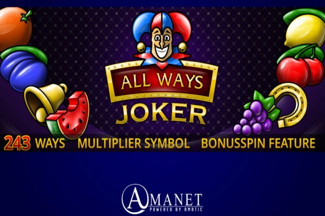 Play slots at Bet it All: Bet it All featuring the Video Slots All Ways Joker with a maximum payout of $15,000