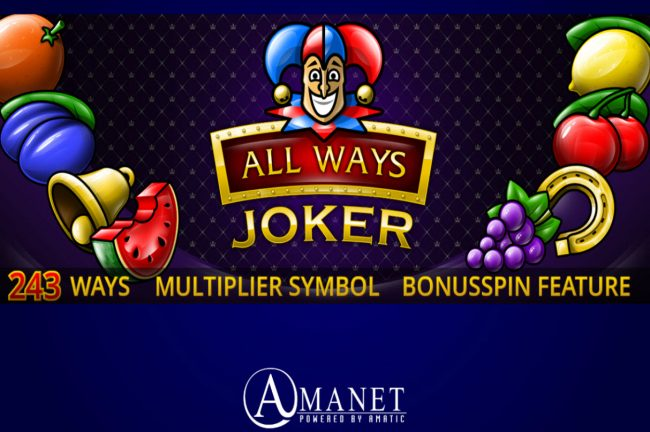 Play slots at Casino Club: Casino Club featuring the Video Slots All Ways Joker with a maximum payout of $15,000