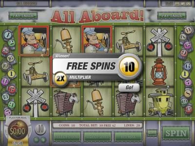 Vortex featuring the Video Slots All Aboard with a maximum payout of $4,000