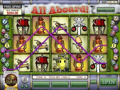 Gibson featuring the Video Slots All Aboard with a maximum payout of $4,000