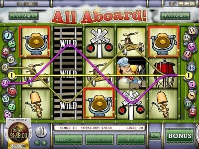 Superior featuring the Video Slots All Aboard with a maximum payout of $4,000