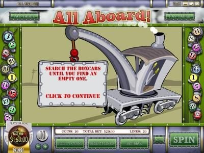 Supernova featuring the Video Slots All Aboard with a maximum payout of $4,000