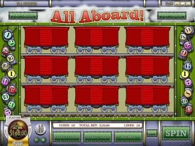 Supreme Play featuring the Video Slots All Aboard with a maximum payout of $4,000