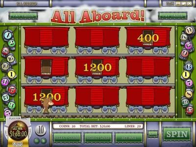 Pantasia featuring the Video Slots All Aboard with a maximum payout of $4,000