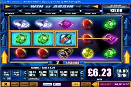All British featuring the Video Slots All That Glitters 2 with a maximum payout of $2,500