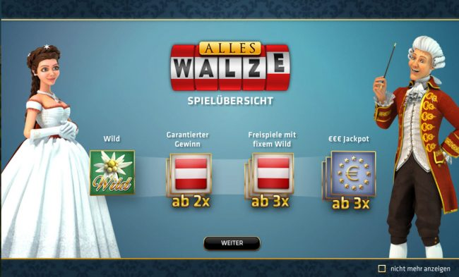 Play slots at Playluck: Playluck featuring the Video Slots Alles Walze with a maximum payout of $25,000