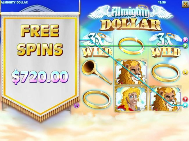Play slots at Crazy Luck: Crazy Luck featuring the Video Slots Almighty Dollar with a maximum payout of $25,000