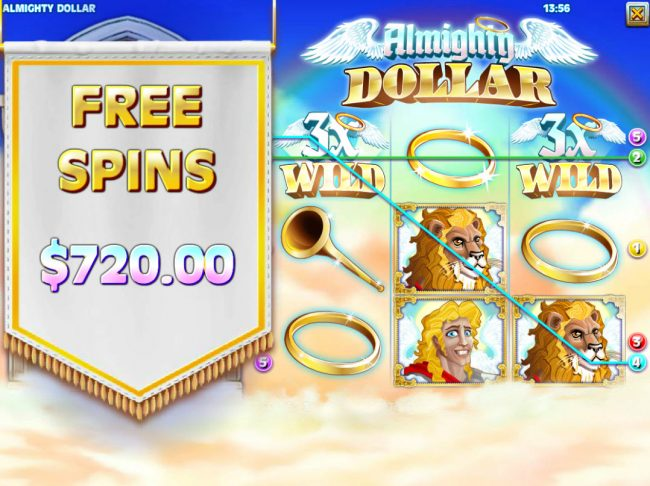Royal Planet featuring the Video Slots Almighty Dollar with a maximum payout of $25,000