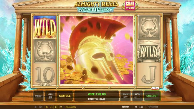 Almighty Reels Realm of Poseidon :: Multiple winning paylines triggers a big win