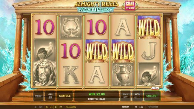 Play slots at Casumo: Casumo featuring the Video Slots Almighty Reels Realm of Poseidon with a maximum payout of $500,000