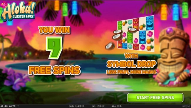 Betchan featuring the Video Slots Aloha Cluster Pays with a maximum payout of $500,000