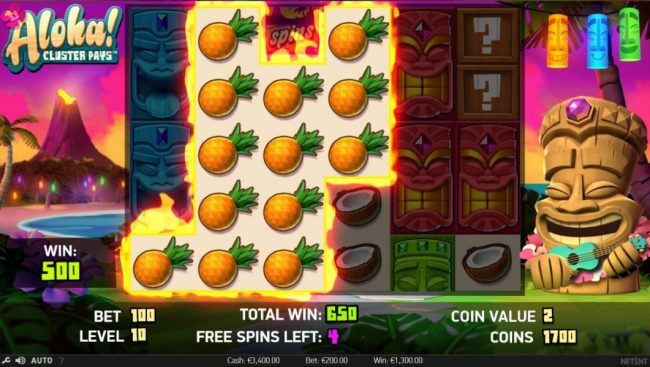 Play slots at 24K Casino: 24K Casino featuring the Video Slots Aloha Cluster Pays with a maximum payout of $500,000