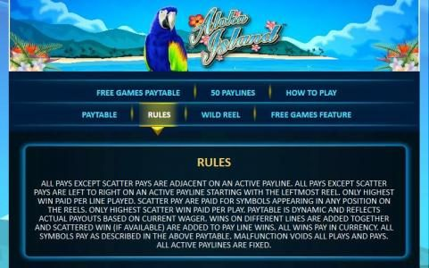 BGO Vegas featuring the Video Slots Aloha Island with a maximum payout of $50,000