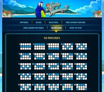 Play slots at Lucky Bets: Lucky Bets featuring the Video Slots Aloha Island with a maximum payout of $50,000