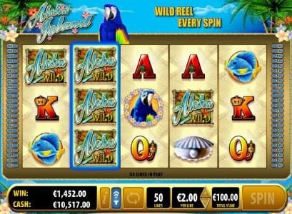 Vegas Winner featuring the Video Slots Aloha Island with a maximum payout of $50,000