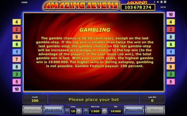 Gambling Feature Rules