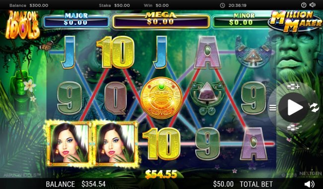 Lord of the Spins featuring the Video Slots Amazon Idols Million Maker with a maximum payout of $1,000,000